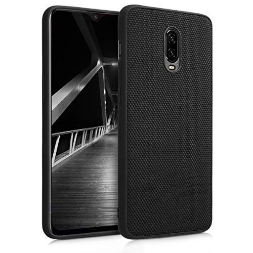kwmobile Hülle kompatibel mit OnePlus 6T - Handy Hülle Handyhülle - Nylon Bezug - Backcover Hardcover Cover Schutzhülle Schwarz