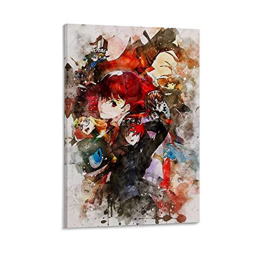 GOUZHU Persona - Póster decorativo de 5 cuadros para pared (40 x 60 cm)