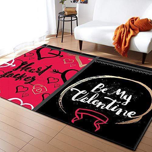 SDFWEWQ Alfombras de área Negro Moderna Simple De Estilo Alfombras 3D Antideslizantes Gruesa y Cómoda Sala De Estar Dormitorio Hotel Restaurante Alfombra De Fiesta (Letras De Graffiti,200x300 cm)
