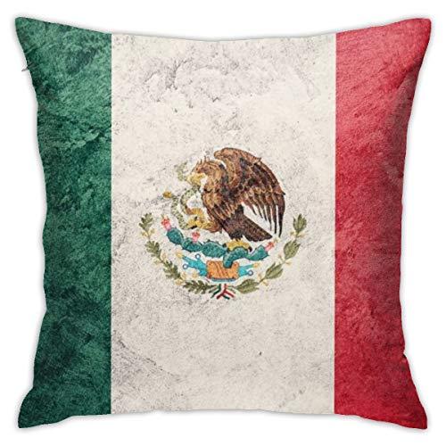 iksrgfvb Kissenbezüge Kissenbezüge Dekoration Bark Grunge Mexico Flag auf dem Schlafsofa 45X45 cm