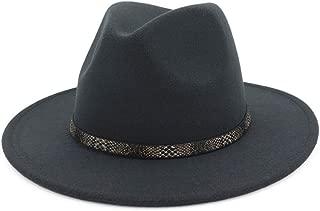 BaZhuaYu Men & Women's Wide Brim Fedora Hat with Band Unisex Felt Panama Cap