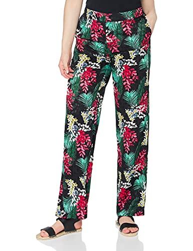FIND Pantalón de Pierna Ancha Mujer, Negro (Black), 42 (Talla del fabricante: 42 L)