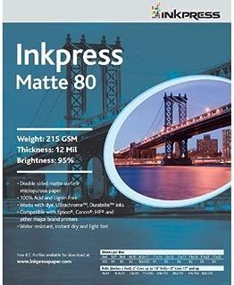 Inkpress PP80111750 Commercial Duo Matte 80 Inkjet Paper New Stock 11in. X 17in. 50 Sheets