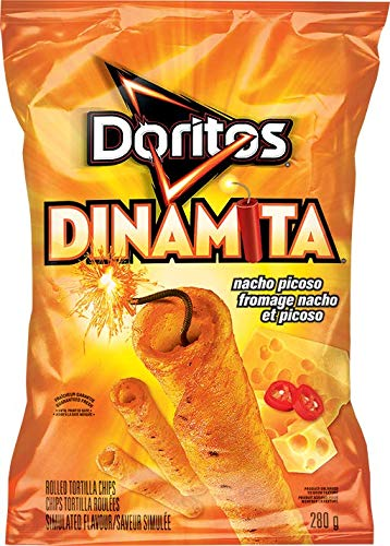 Doritos, Dinamita, Nacho Picoso, Rolled Tortilla Chips, 9.75oz Bag (Pack of 4)