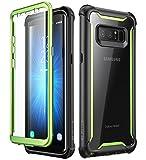 i-Blason Hülle für Samsung Galaxy Note 8 Hülle 360 Grad Handyhülle Bumper Hülle Transparent Schutzhülle Clear Cover [Ares] mit integriertem Bildschirmschutz, Grün