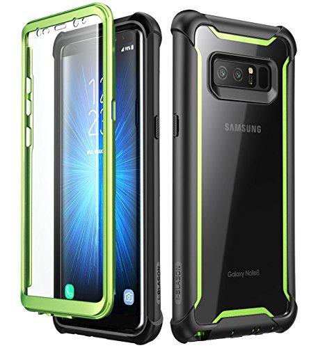 i-Blason Funda Galaxy Note 8 [Ares] 360 Grados Carcasa Completa con Protectores de Pantalla Incorporados para Samsung Galaxy Note 8 (2017) Verde