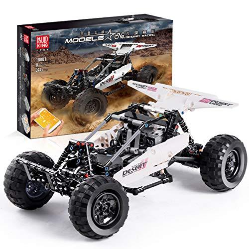 Building Toys Rc Car, Remote Control Car Educational Toys for Boys and Girls APP Climbing Truck Desert Racing Car 2.4Ghz Building Blocks Set Kit (Desert car)