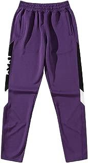 Mogogo Mens Casual Letter Printed Pockets Mid Waist Jogger Sport Pants