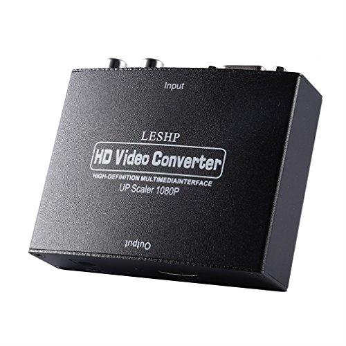 LESHP Full HD 1080P VGA zu HDMI Konverter / Adapter   Wandler von analog zu digital   für Desktop-Computer, Laptop, DVD-Player, Set-Top-Box  HDCP   HDTV / Beamer uvm