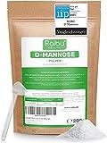 RAIBU® D-Mannose Pulver - 220g (3,6 Monate Vorrat) I D Mannose Pulver in Deutschland abgefüllt I Natürlich, Vegan, GMO-frei & Laborgeprüft I Extra Dosierlöffel