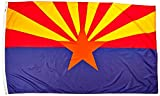 Annin Flagmakers Model 140280 Arizona State Flag Nylon SolarGuard NYL-Glo, 5x8 ft, 100% Made in USA to Official Design Specifications