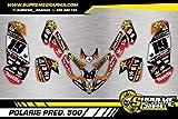Kit Adhesivos Mate Polaris Predator 500 Sticker KLEBER AUFKLEBER Adhesivos ADESIVI