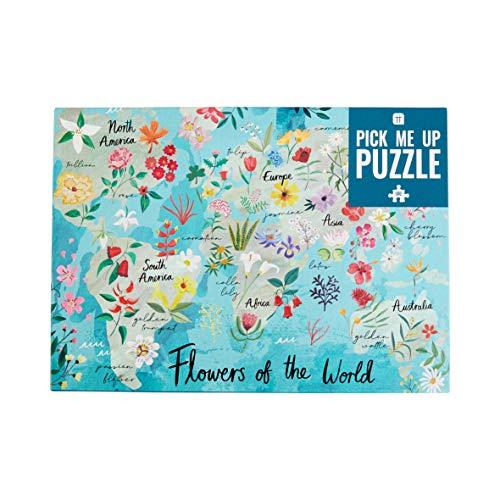 Talking Tables Puzzle e poster da 500 pezzi Flower of the World, Colore Giornata di pioggia, a casa, compleanno, Natale, PUZZ-PMU-FLOWERS