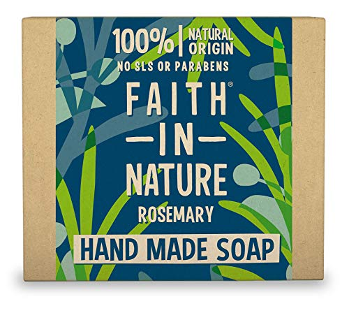 Faith In Nature Pure Vegetable Soap. Hanf und Grüner Tee Seife. 100g Stück