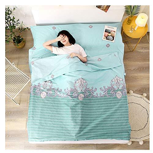 YAOTT Reise Schlafsack Liner mit Muster,leichte Schlafsackhülle für Erwachsene im Hotel und Outdoor-Standalone-Schlafsack mit Reißverschluss 6 120 * 210cm