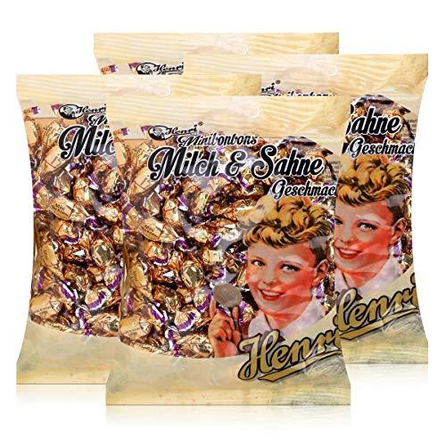 Henri Minibonbons Milch & Sahne 250g - Nascherei für zwischendurch (4er Pack)