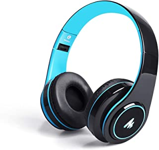 (Renewed) Maono AU-D422L Over-Ear Bluetooth Wireless Headphones with Built in Mic (Blue and Black)