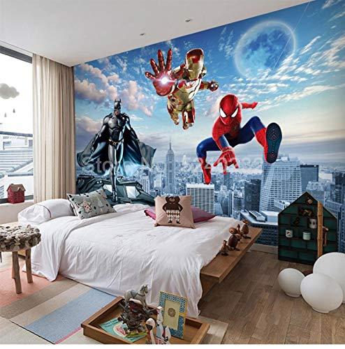 personnalisé 3d Avengers spiderman super-héros papier peint, dessins animés sur le thème créatif, peinture murale, chambre d'enfants