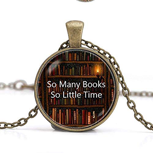 Bücherwurm Halskette, Halskette Schmuck, Bibliothekar Schmuck, Book Lover Buch, Reader Geschenk