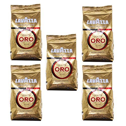 Lavazza Caffè Qualità Oro, Caffè in Grani, 5 Confezioni, 5 x 1000g