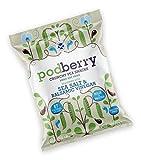 Podberry | Chips de guisantes artesanales | 100% natural y ultra bajo en carbohidratos y grasas | Paquete de 4 | Sal y Vinagre Balsámico | Ceto, vegano, bajo en carbohidratos, sin gluten