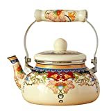 XYM-Kessel 2.5L Emaille Light Weight Tea Pots pfeifender Wasserkocher mit...