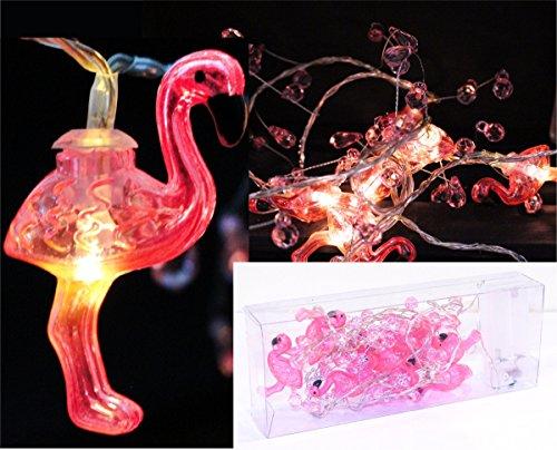 Geschenkestadl LED Lichterkette mit 10 LEDs Flamingo 3 cm