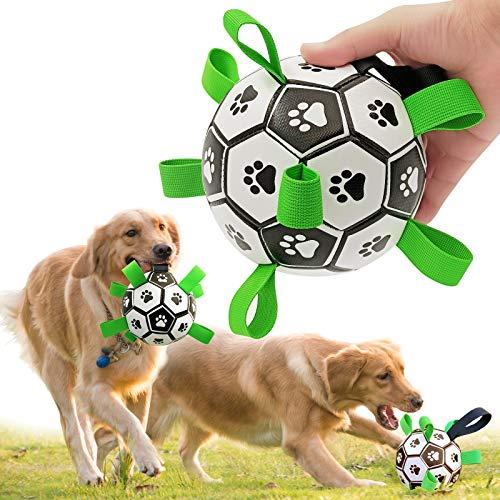 CFinke Hundefußball mit Haltegriffen, interaktives Indoor-Outdoor-Hundespielzeug Spiel IQ Training Hunde Fun Spielzeug Hund Ball