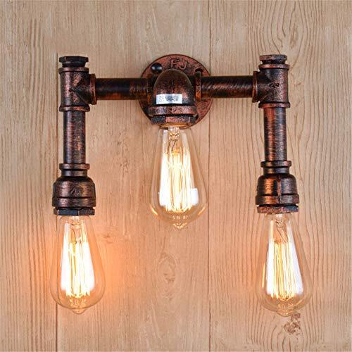 XZYP Industrieller Steampunk LED Schreibtischlampe, Retro Industrie Wind-Wand-Lampe, Kreative Eisen-Rohr-Lampe, Nachttischlampe, Wandleuchte