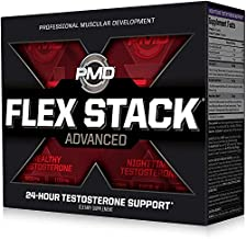 PMD Sports Flex Stack Advanced 24-Hour Testosterone Stack for Lean Muscle Growth, Strength, Recovery, Libido and Restful Sleep - N-Test 600 Advanced / 90 Liquid T-Gels, Z-Test 90 Capsules …
