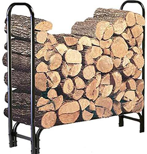 Fantastic Prices! DOEWORKS 4 Feet Heavy Duty Indoor/Outdoor Firewood Racks Steel Wood Storage Log Ra...