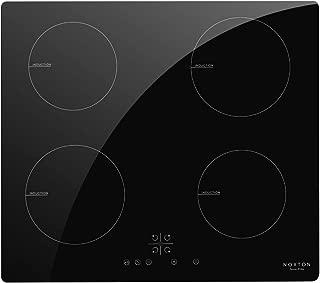 NOXTON 60cm Placas de Inducci/ón Vidrio Negro Cocina el/éctrica integrada de 4 Zonas Domino con Control t/áctil del Sensor