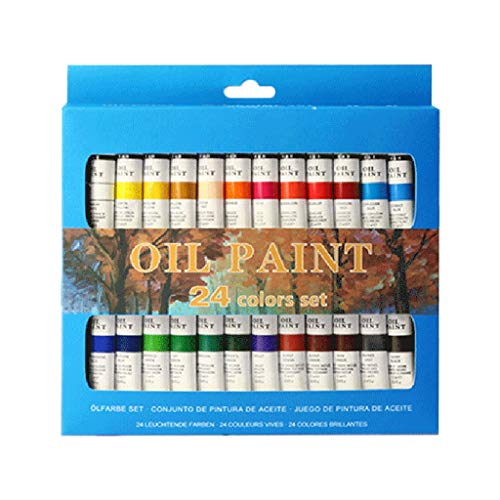 Guizhou WANXI Conjunto de tubos de 12 ml para pintura a óleo profissional de 24 cores para iniciantes