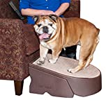 Pet Gear Stramp Stair and Ramp Combination, Dog/Cat Easy Step, Lightweight/Portable, Sturdy, Extra Wide, Gentler Sloped - Chocolate, AM9700CH
