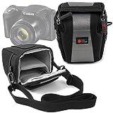 DURAGADGET Sacoche pour Canon PowerShot SX420 is Appareil Photo Bridge - en Noir/Gris, Boucle de Ceinture et bandoulière