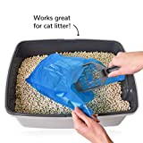 Doggie Walk Bags Dog Waste Bags with Easy Tie Handles, Extra Thick and Strong Poop Bags, Easy Dispensing and Leak Proof, 70 Blue Scented Doggy Bags, 7 x 5 x 17 Inches