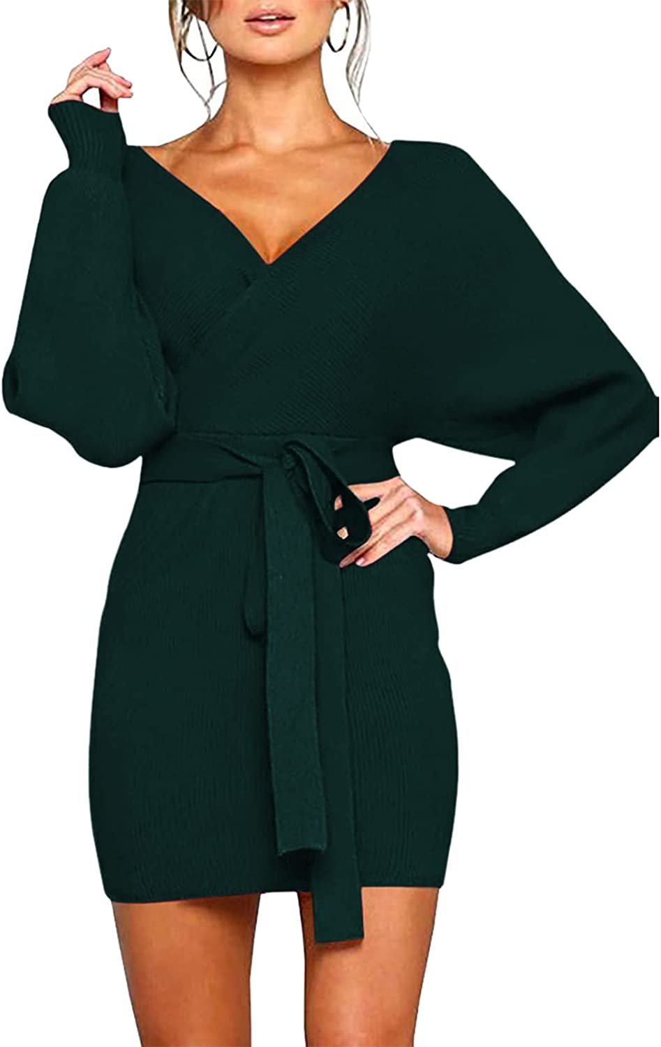 Popular shop is the lowest price challenge Cutiefox Women's Sexy Deep V Neck Batwing Dress B Sleeve Sweater Sale special price