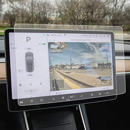 "INNOSURE Tesla Model Y Model 3 Matte Screen Protector Anti-Glare Anti-Fingerprint 15"" Center Control Touchscreen Car Navigation Touch Tempered Glass Screen Protector for Tesla Model Y Model 3 Accessories"