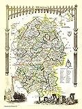 Old Map of Wiltshire 1836 de Thomas MouleYYW Rompecabezas para Adultos Juego de descompresión decoración del hogar Arte Regalos (29,5 x 19,7 Pulgadas)