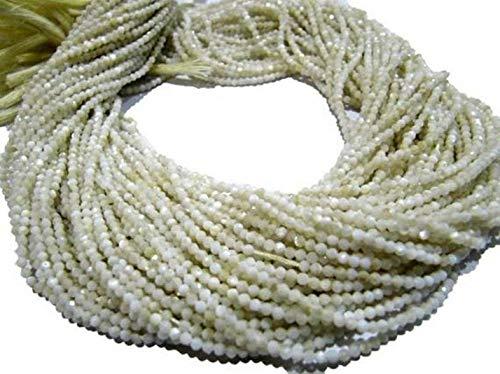 Shree_Narayani Madre natural de la perla Rondelle facetó 2mm perlas Strand 13
