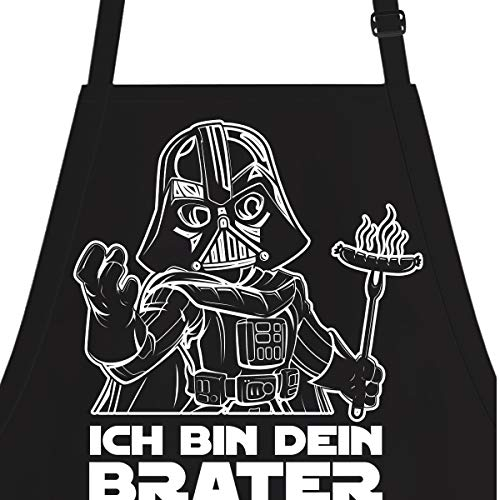 OM3® ICH-BIN-DEIN-BRATER - Grill-Schürze - Parodie Fun - BBQ Küchenschürze für Erwachsene Unisex