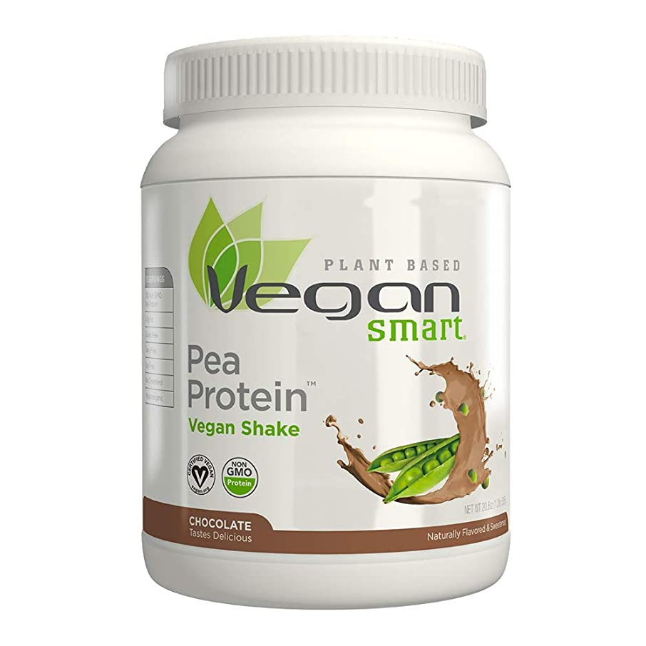 人事差し控える転用海外直送品Vegan Pea Protein Jug, Chocolate 20.64 oz by Naturade