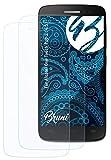 Bruni Schutzfolie kompatibel mit Alcatel One Touch Pop 2 (4.5) Folie, glasklare Bildschirmschutzfolie (2X)
