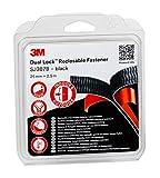 3M Dual Lock SJ387B Hook & Loop Sistema di Fissaggio Richiudibile ad Alte Prestazioni per Applicazioni Interne, 25mm x 2.5m, Nero