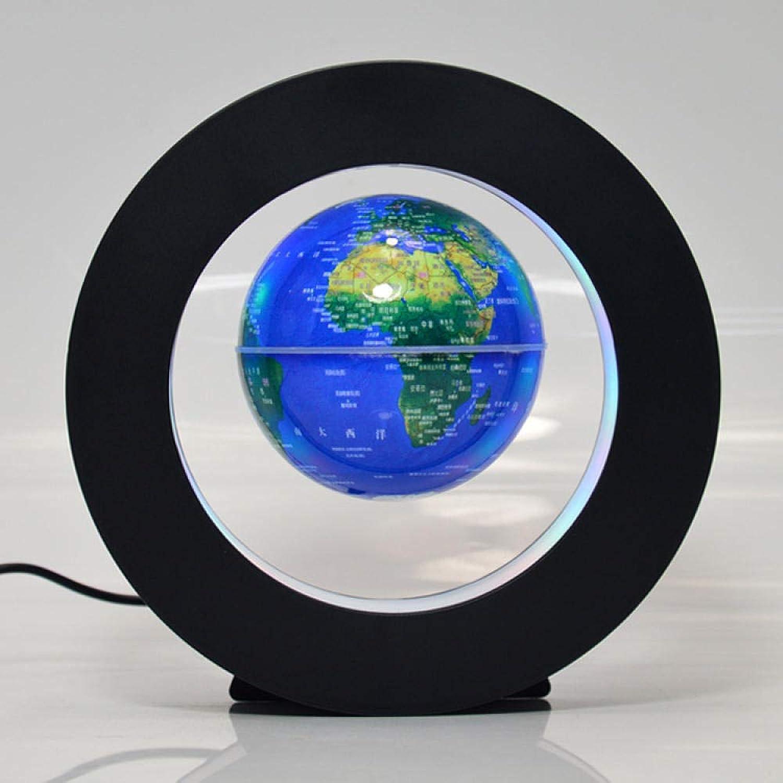 Jopjdpdsf Schwebender Globus,Kreisfrmige Magnetschwebekugel 3 Zoll Leuchtende Globus-Magnetschwebekunsthandwerk