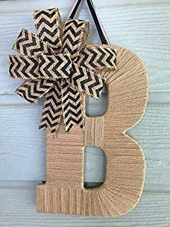 Tightly Wound Designs-Front Door Decor- Burlap Door Hanger-Many Bow Colors and Sizes Available