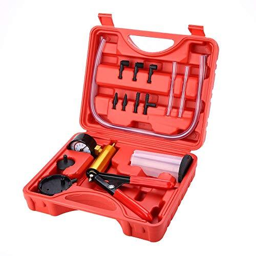 KIMISS Kit de herramientas de sangrado de freno + Bomba de vacío de purga de freno + Probador de vacío para la Motocicleta y Coche