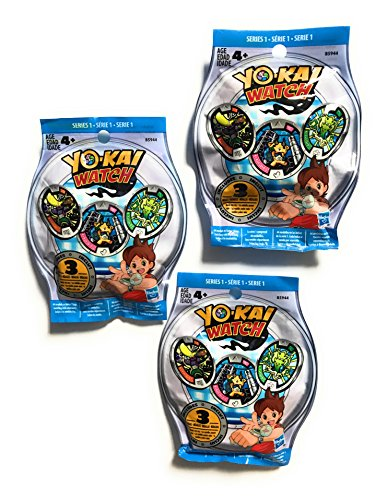 Yo Kai Yo-Kai Season 1 Medals - Three Blind Bags - 9 Random Medals