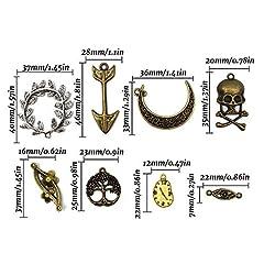 Mila-Amaz 100 Pcs Surtidos Steampunk Cogs Metal Colgante Cogs Engranajes Steampunk para Manualidades, joyería, Mixed Colours #2