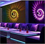 Spiral LED Wall Light,3W Colorful RGB Spiral Hole Wall Lamp Aluminum LED Wall Lamp Indoor Lighting for Bar KTV Decor Light with Remote Control